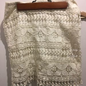 Fossil skirt, white lace, size XS